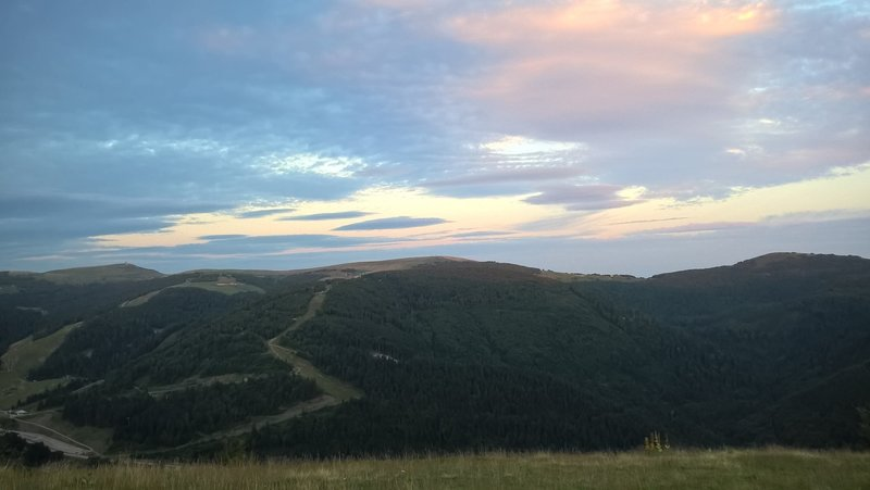 View to Honeck and other tops of Vosges