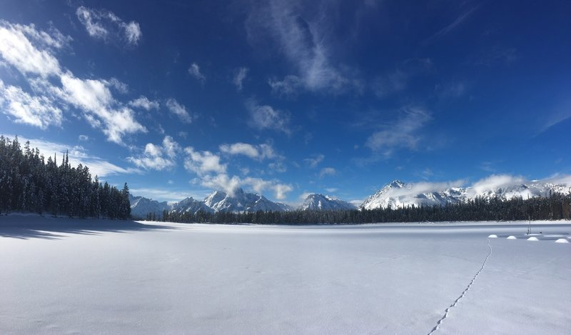 A wintering view of Colter Bay.