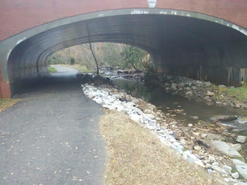 Trail under Pullen Road