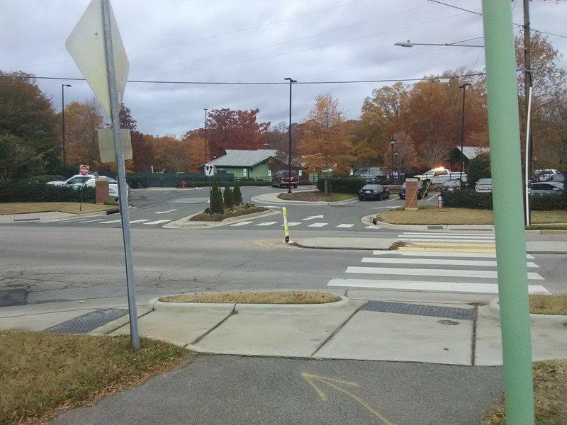 A view of Pullen Park across Ashe Avenue