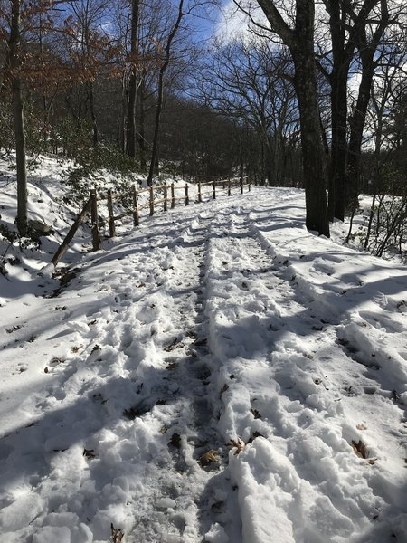 Snow covered carriage trail
