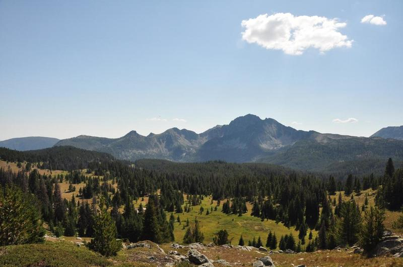 Looking back towards mt Remmel and four points