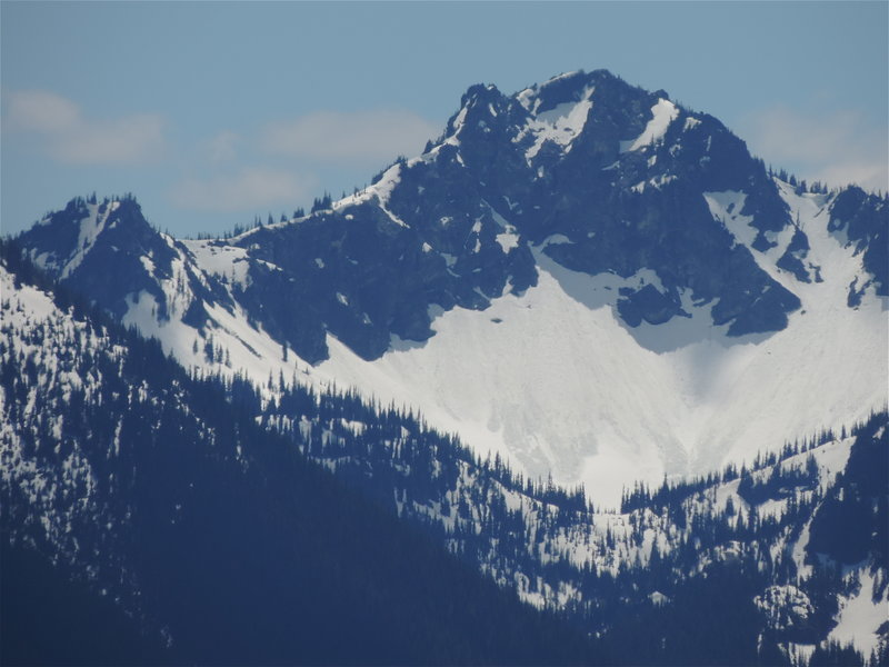The peak east of Crystal Peak