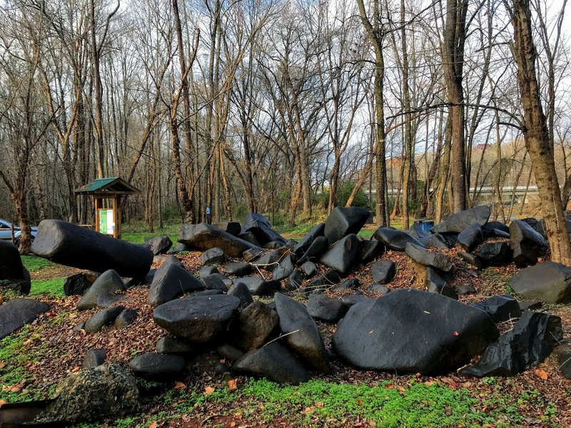 Random boulderfield at the parking lot