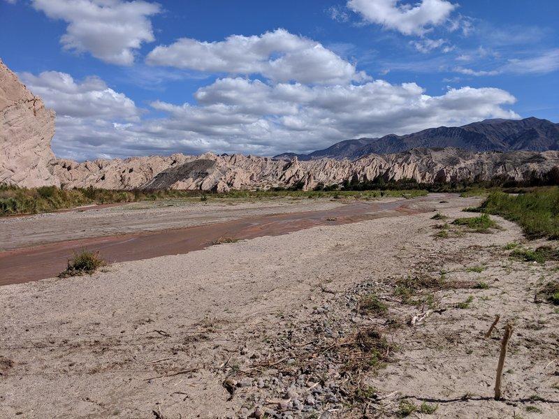 A backside view of the Quebrada de Las Flechas