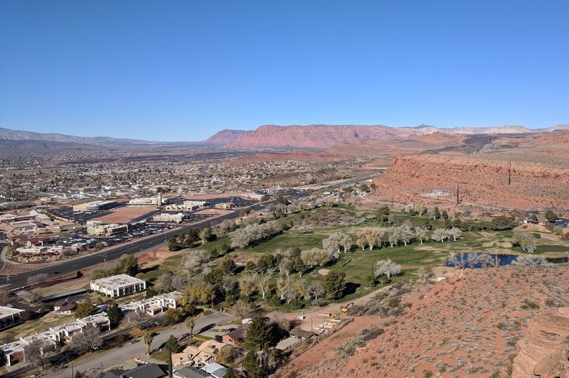 Looking out over the west side of St. George to Snow Canyon from the end of Owen's Loop.