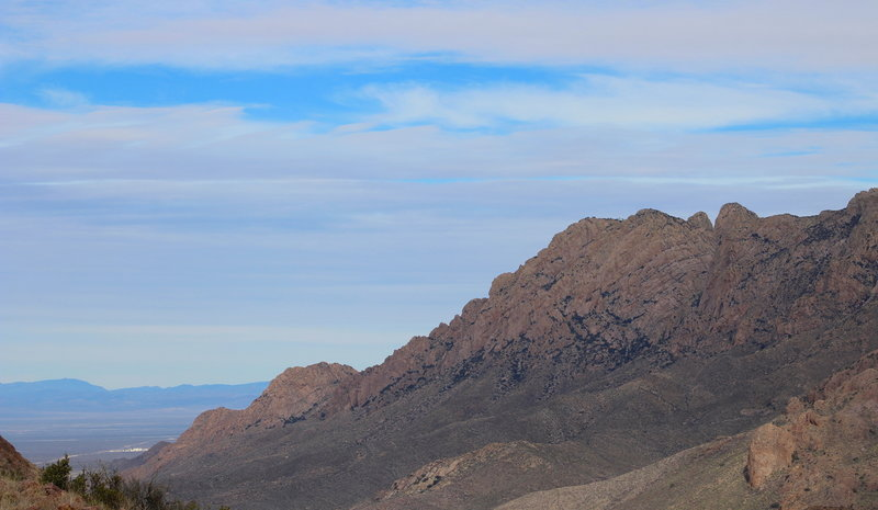 Looking north towards Ice Canyon and Dripping Springs.
