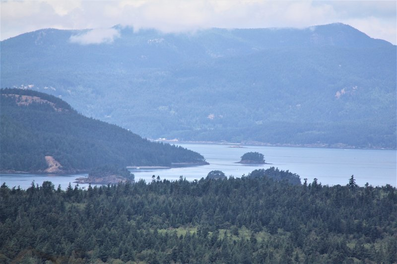 Cypress Island, Cone Islands, Mt. Constitution from atop Guemes Mountain.