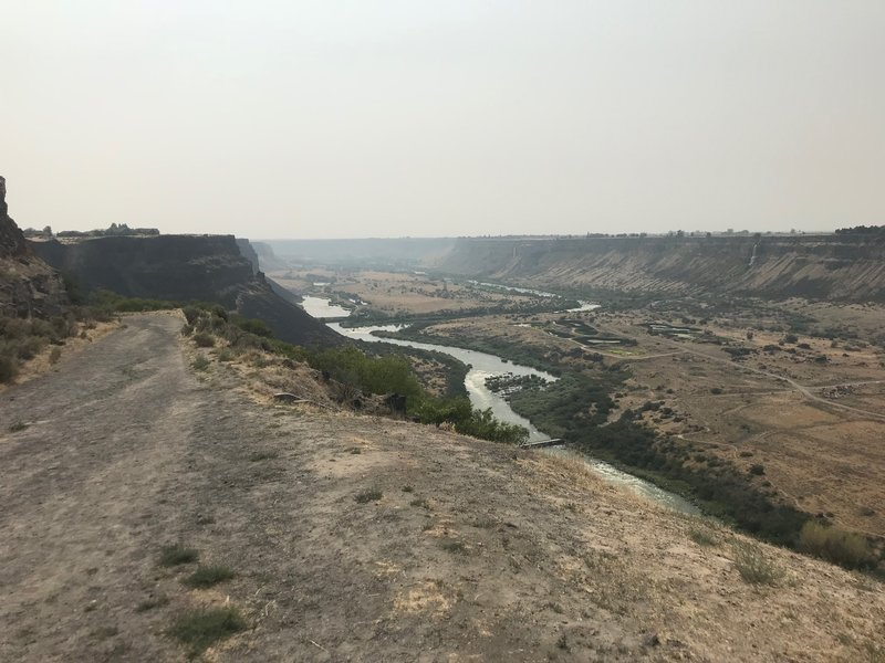 View of the Snake River Canyon from the beginning of the trail