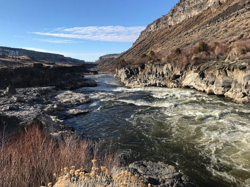 Some Snake River rapids above Auger Falls.