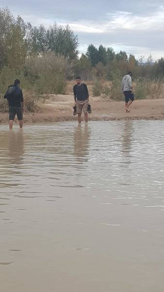 Be prepared for bit of wading to get to the Santa Elena Trail.
