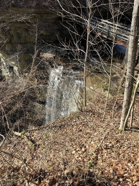 Little Clifty Falls, the smaller of the 2 main attractions on this end as viewed from the west side during winter