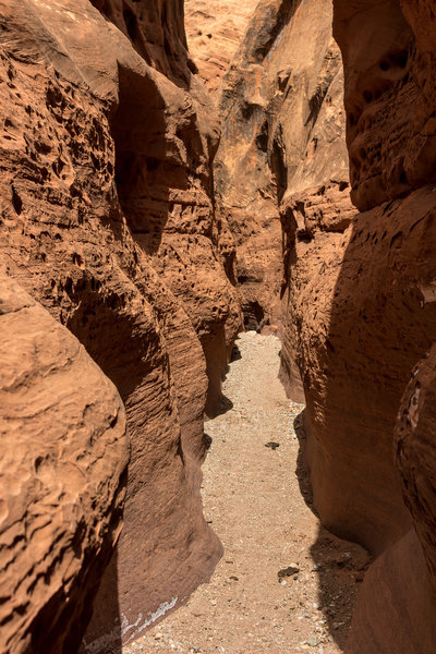 The heart of Little Death Hollow, the slots are barely a shoulder wide