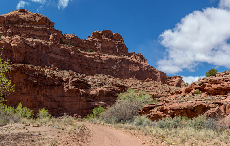 Horse Canyon Road as it winds through Horse Canyon