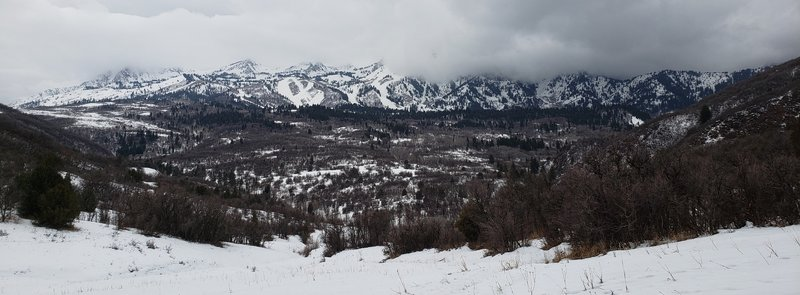 Pano of Snowbasin from Art Nord