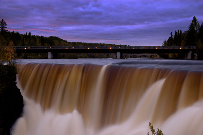 Kakabeka Falls on a Friday night