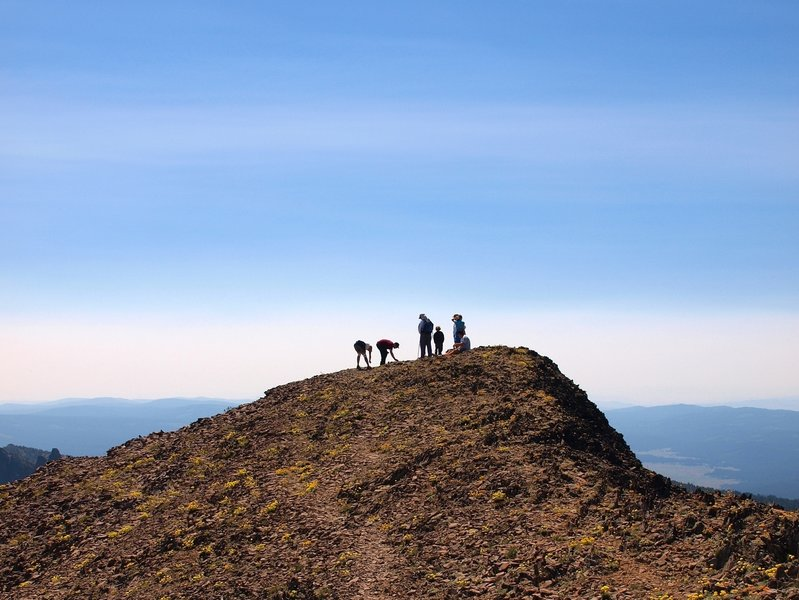 Hikers on the summit of Strawberry Mountain