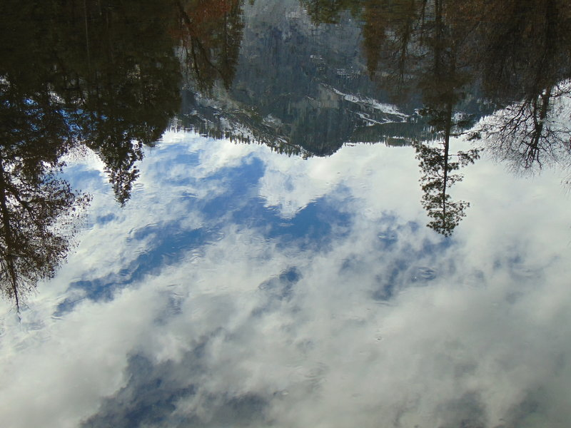 Valley walls reflection in Mirror Lake