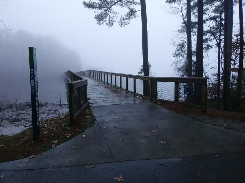 Footbridge over Lake Crabtree