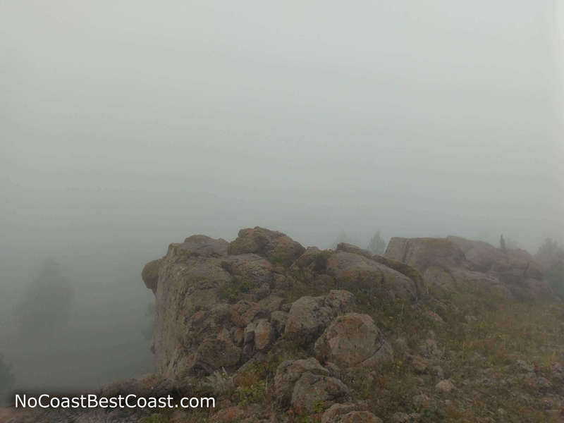 Fog at the summit of Sheepnose Mountain