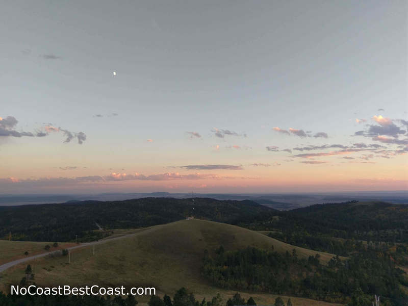 Sunset view from the Warren Peak Fire Lookout