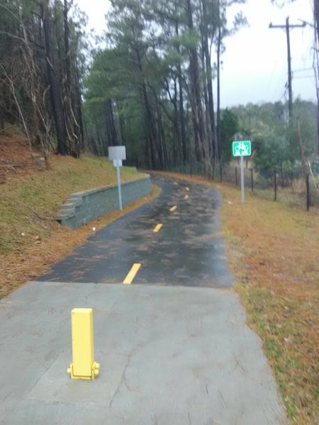 West Ellerbee Trail entrance at Broad Street