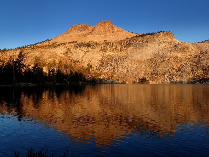 Mount Hoffman and May Lake in early morning
