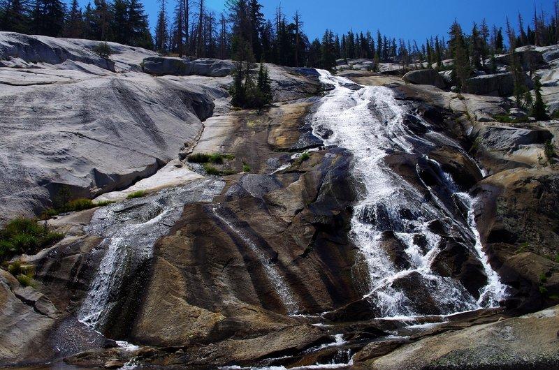 Florence Creek cascades into Lewis Creek