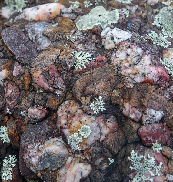 Perseverance paid a premium in pinpointing the perfect pink puddingstone picture!  Oh, and find the heart.