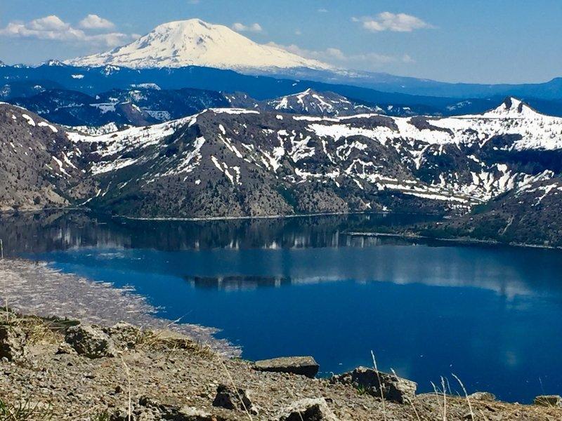 Mt Adams and Spirit Lake from Harry's Ridge