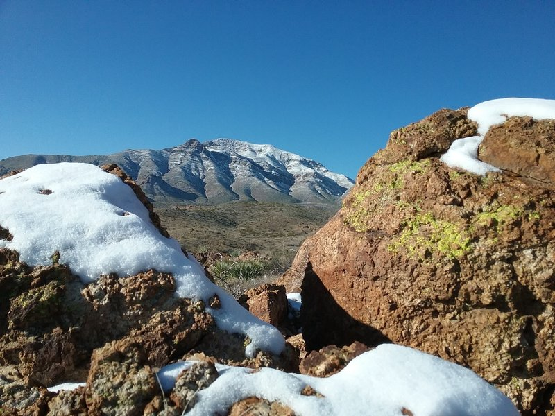 View of North Franklin Peak in the winter
