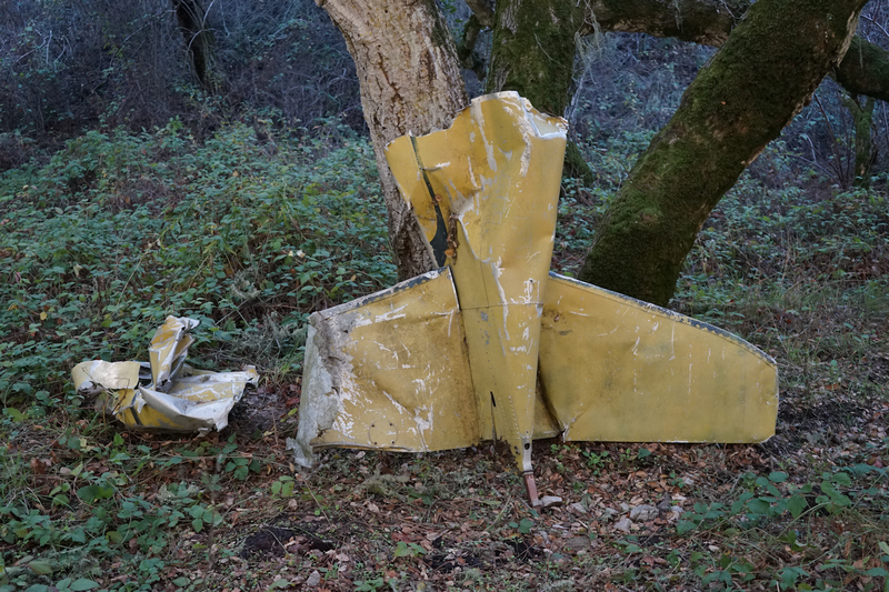 Airplane wreckage - tail section