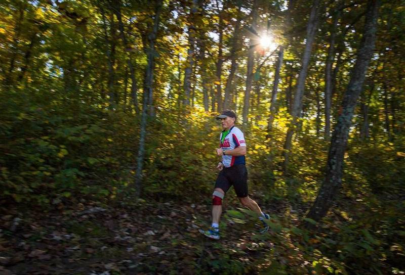 Runner on Thousand Hills Trail