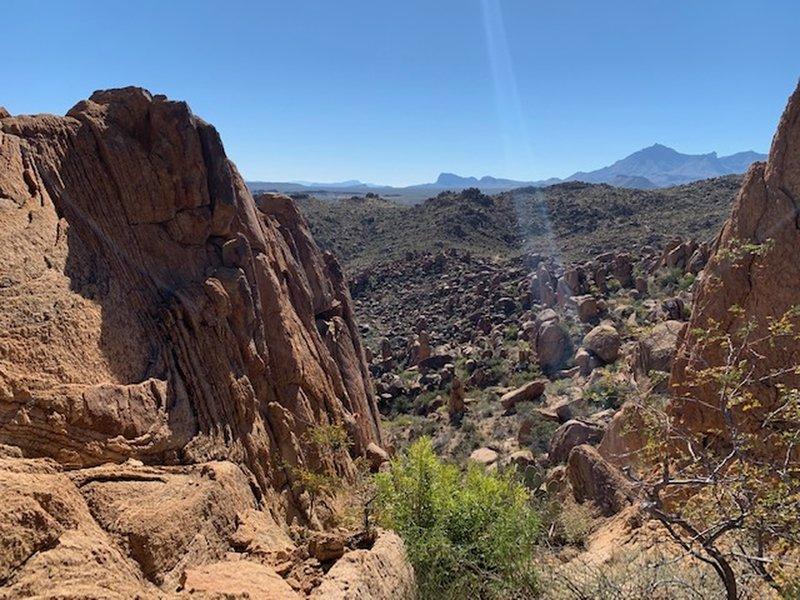 Balanced rock view