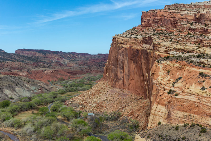 Capitol Reef and Fruita Historic District with the Fruita Historic School