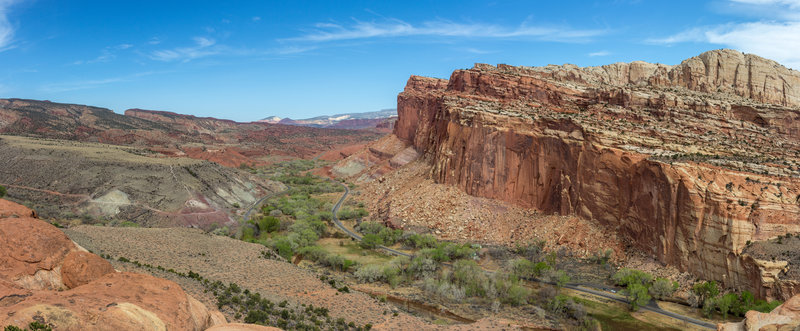 Panorama from the South Fruita Overlook Viewpoint