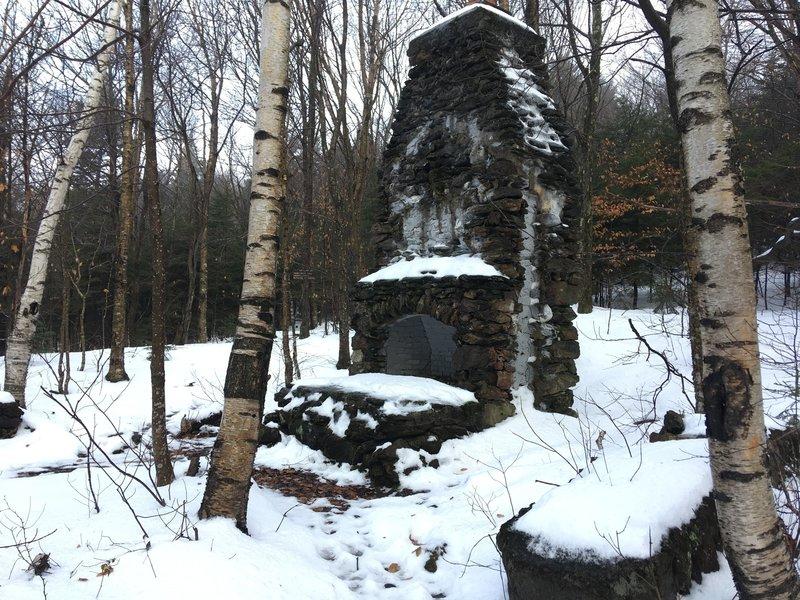 Chimney Remnants from Old Lodge (taken on Nov. 25, 2018)
