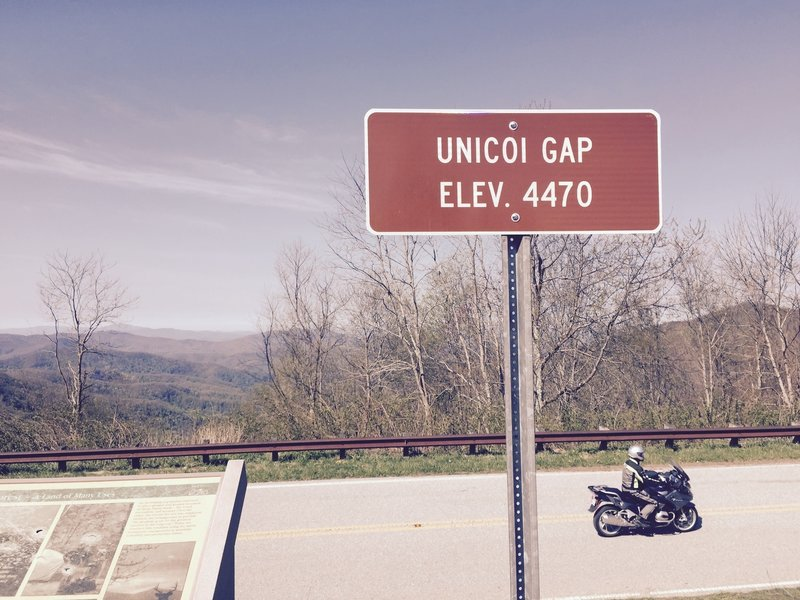 Parking available at Unicoi Gap Overlook