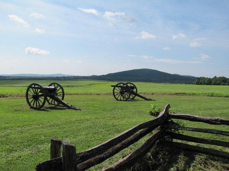 Artillery at the Cedar Mountain Battlefield