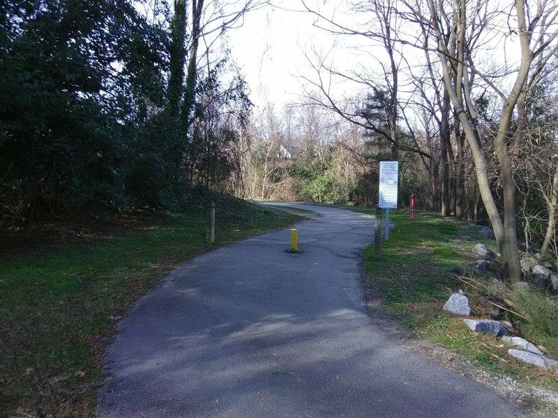 Trail along Rocky Branch