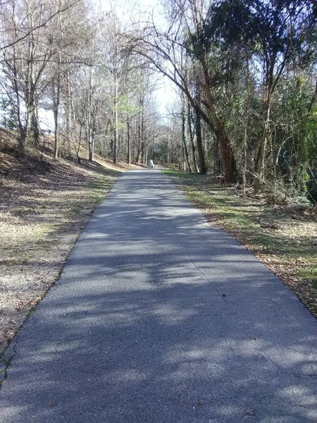 Looking up Rocky Branch Greenway