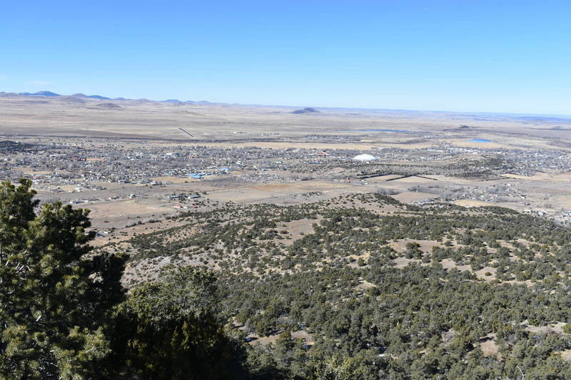Flat Top Trail Terminus (looking north with views of Round Valley and Eagar/Springerville)