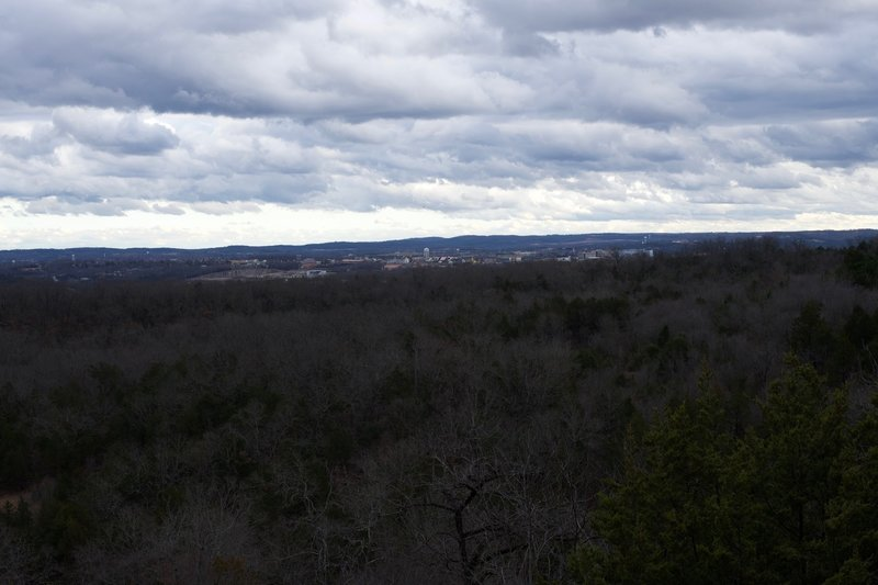 Off to the right side of the Glade Trail, you get views of the Branson area and surrounding hills.