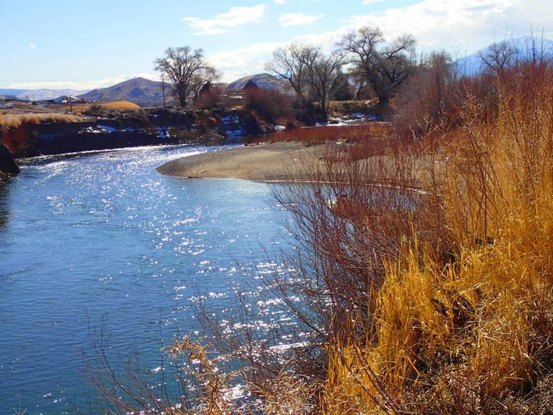 Truckee River in the winter