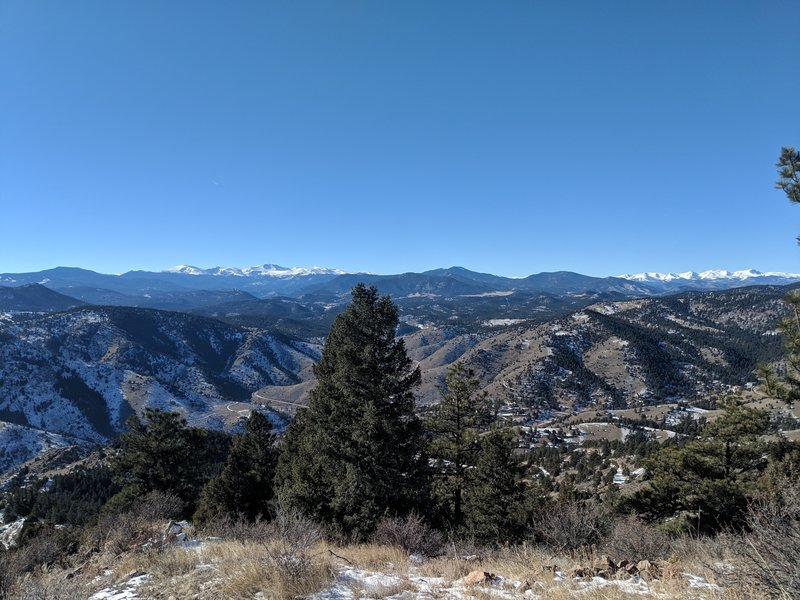 View of mountains from the top.