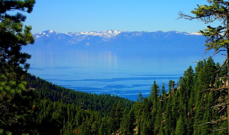 Lake Tahoe from the Incline Flume Trail.