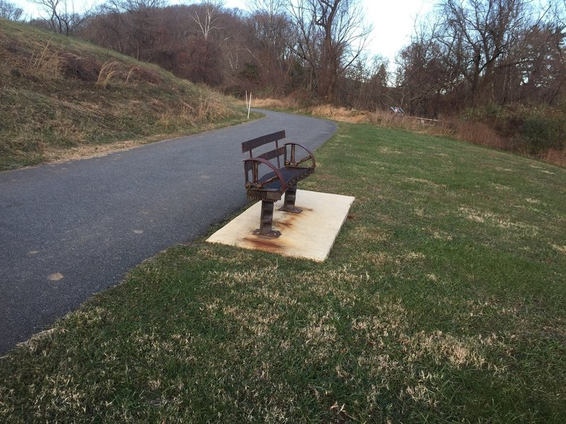 A bench on Auburn Valley Trail.