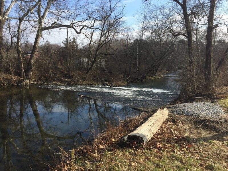 A creek seen from Yorklyn Bridge Trail.