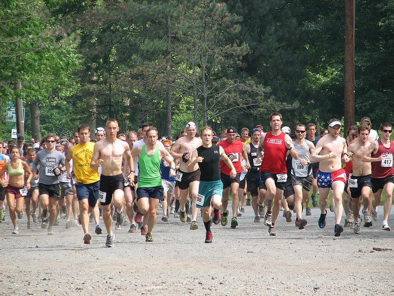 The Start of the Charlie Horse Trail Half Marathon