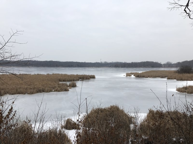 View of Stone Lake from the observation area.